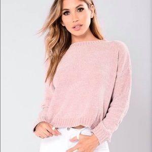 Fashion nova knit pink sweater